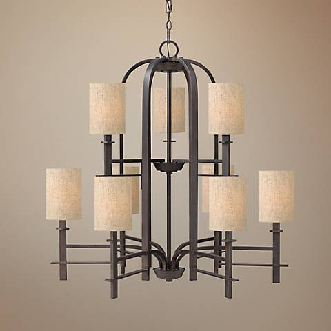 "Hinkley Sloan Collection 36"" Wide Regency Bronze Chandelier"