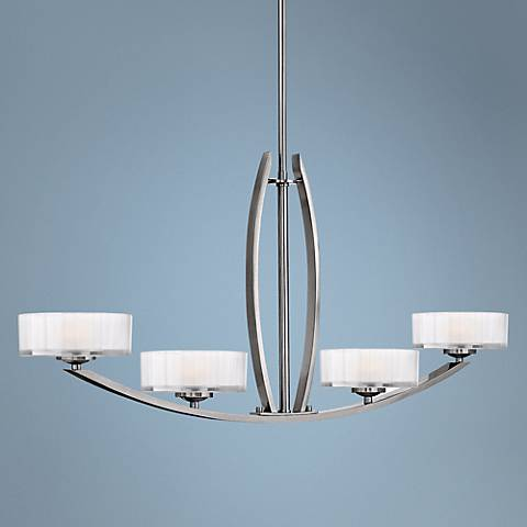 "Hinkley Meridian Collection 44"" Wide Nickel Pendant Light"