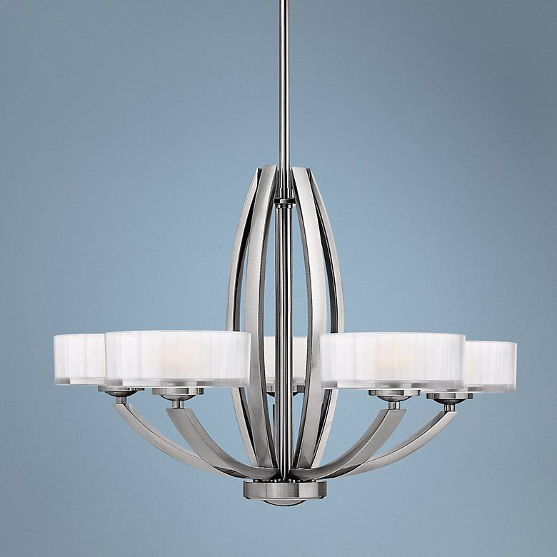 "Hinkley Meridian Collection 27"" Wide Nickel Pendant Light ..."