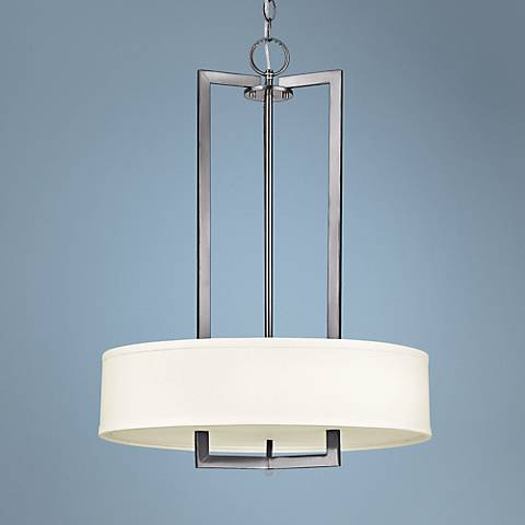 "Hinkley Hampton Collection 20"" Wide Nickel Pendant Light"