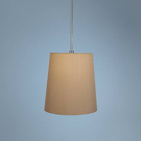 Robert Abbey Rico Espinet Buster Taupe Shade Pendant Light