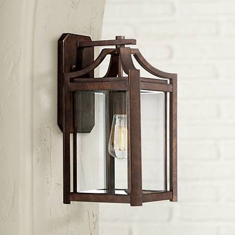 "Rockford Collection 16 1/4"" High Bronze Outdoor Wall Light"