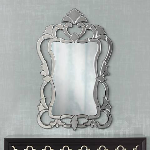 "Howard Elliott Contessa 26"" x 43"" Venetian Style Mirror"
