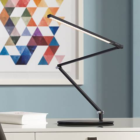 Gen 3 Black Z-Bar Slim Daylight LED Touch Dimmer Desk Lamp