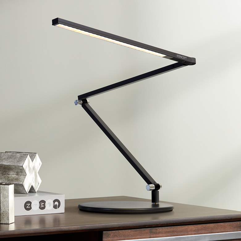 Gen 3 Black Slim Z-Bar Daylight LED Touch Dimmer Desk Lamp