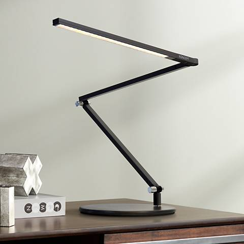 Koncept Lady 7 Metallic Black Led Desk Lamp With Usb Port