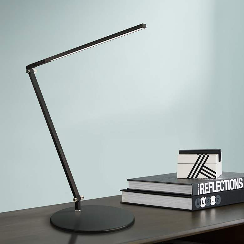 Gen 3 Black Solo Z-Bar Daylight LED Touch Dimmer Desk Lamp