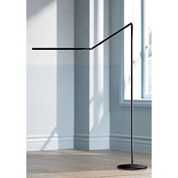 Gen 3 Z-Bar Warm Light Touch Dimmer LED Floor Lamp in Black