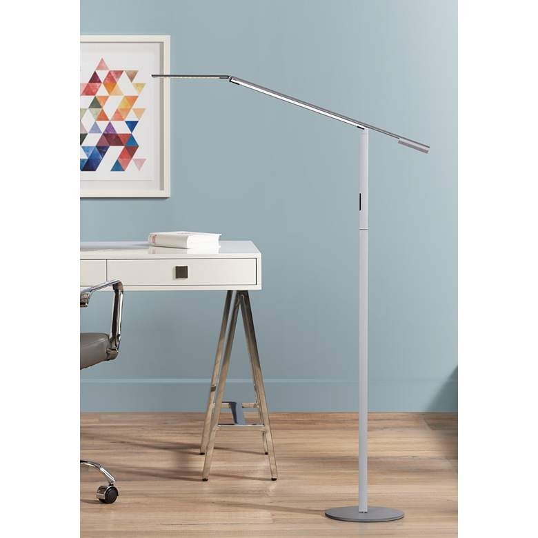 Gen 3 Equo Daylight LED Silver Floor Lamp