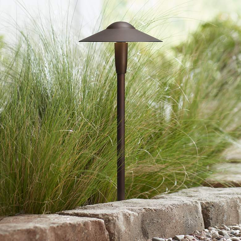 "Kichler Landscape 8 1/4"" Wide LED Bronze Dome"
