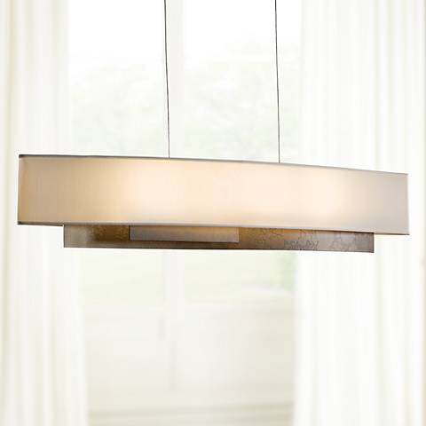 "Hubbardton Forge 42"" Wide Facet Dark Smoke Pendant"