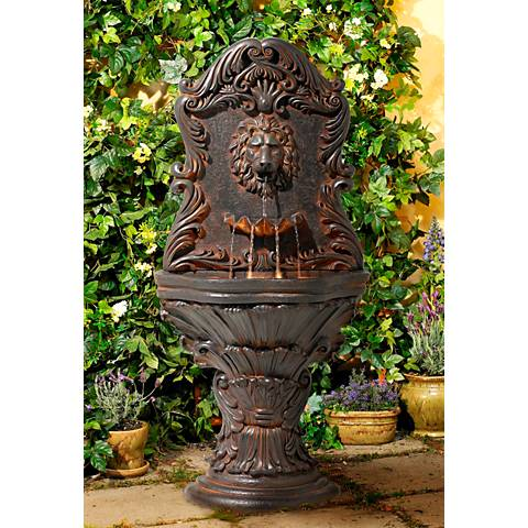 "Imperial Lion Acanthus 50"" High Fountain with LED Light"