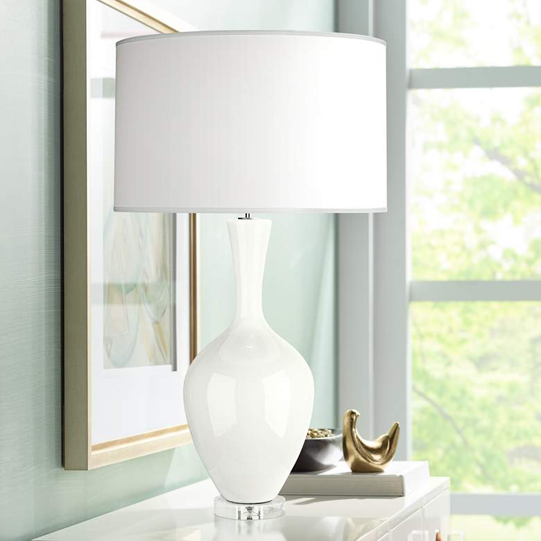 Robert Abbey Audrey Lily White Ceramic Buffet Lamp