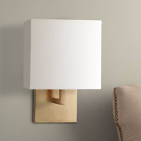 "George Kovacs Honey Gold 11 1/4"" High Half-Shade Wall Sconce"
