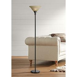 Skyler Bronze Finish Torchiere Floor Lamp