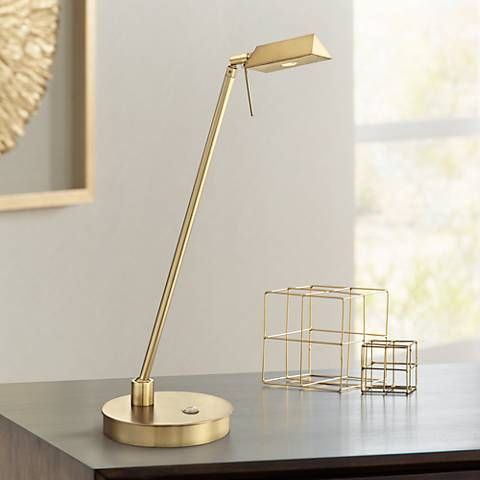 George Kovacs Honey Gold Tented LED Desk Lamp