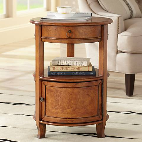 Kendall Cherry Round Accent Table