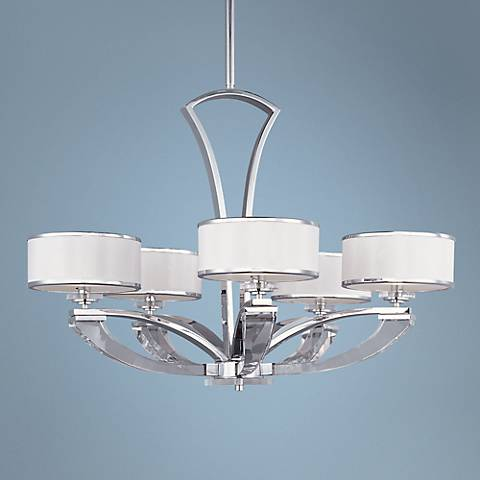 "Maxim Metro 34"" Wide 5-Light Polished Chrome Chandelier"