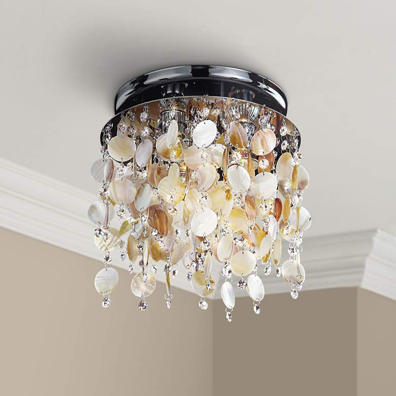 "Seaside Dreams Clear Crystal 11 1/2"" Wide Ceiling"
