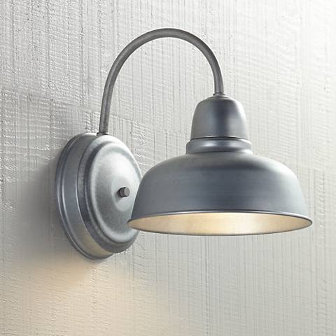Urban barn 11 14 high galvanized indoor outdoor wall light urban barn 11 14 high galvanized indoor outdoor wall light aloadofball Image collections
