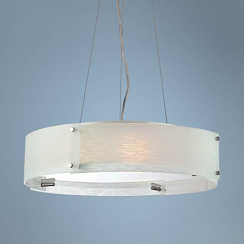 "Lite Source Kaelin Curved Glass 20 3/4"" Pendant Light"