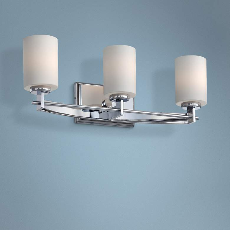 "Quoizel Taylor 21"" Wide Polished Chrome Bathroom Light"