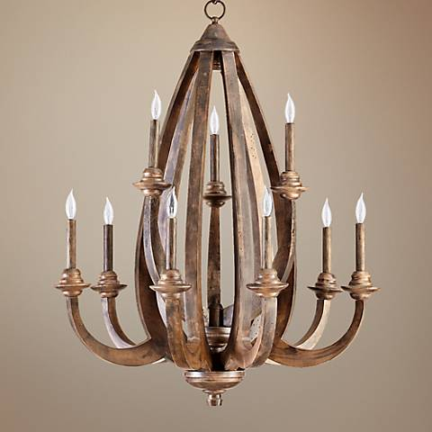 "Quorum Telluride 9-Light 30 1/2"" Wide Bronze Chandelier"