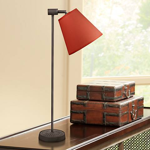 Lights Up! Zoe Burnish Chintz Antique Iron Desk Lamp