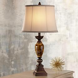 "Kathy Ireland Home Mulholland 30"" Marbleized Table Lamp"