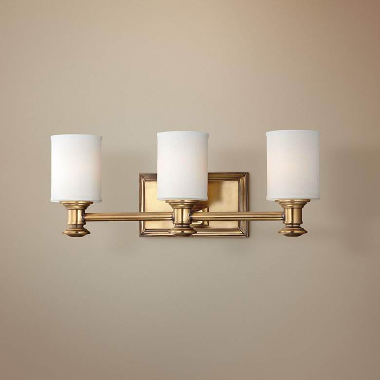 "Harbour Point 3-Light 19"" Wide Liberty Gold Bath Light"