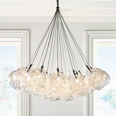 "Possini Euro Wired 23 1/2"" Wide Chrome Multi Light Pendant"