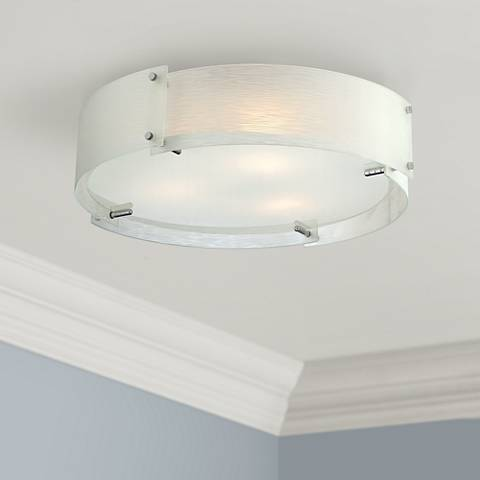 "Lite Source Kaelin Flushmount 21"" Chrome Ceiling Light"