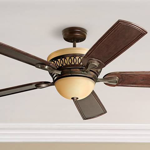 "54"" Emerson Braddock Bronze Ceiling Fan with Light Kit"