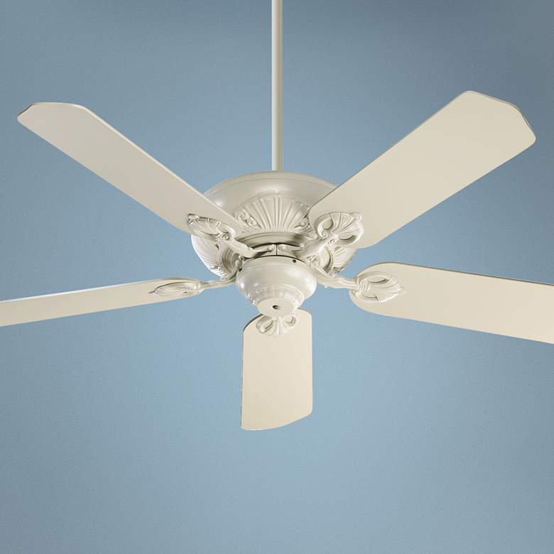 "52"" Quorum Chateaux Antique White Ceiling Fan"