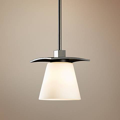 "Hubbardton Forge Wren 5"" Wide Stone Glass Mini Pendant"