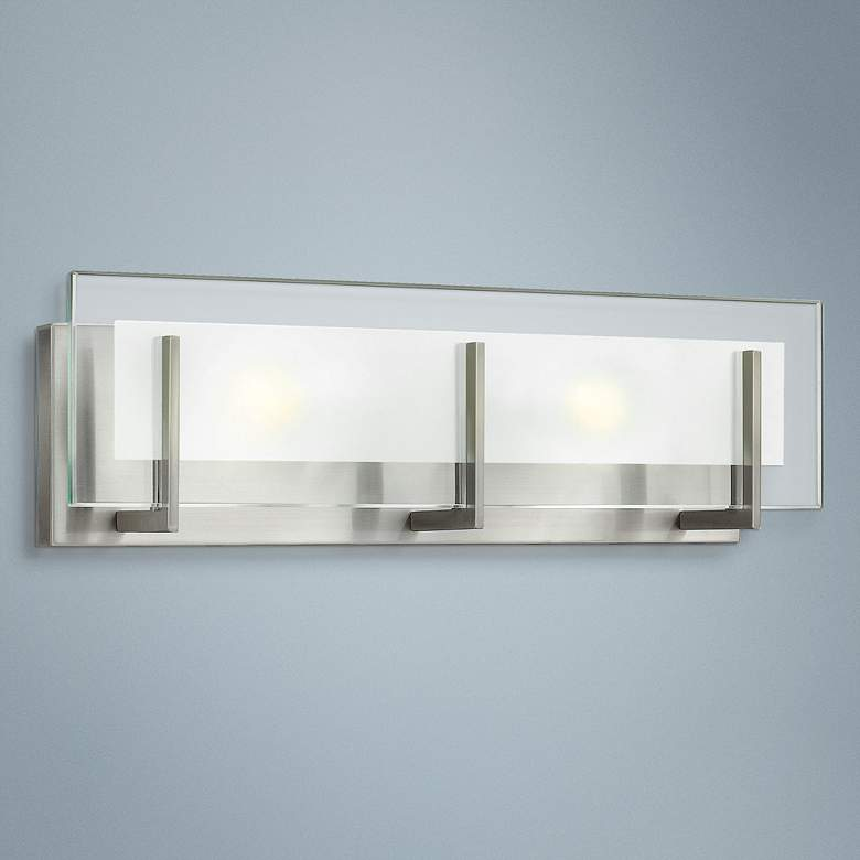 "Hinkley Latitude 18""W Brushed Nickel 2-Light Vanity Light"