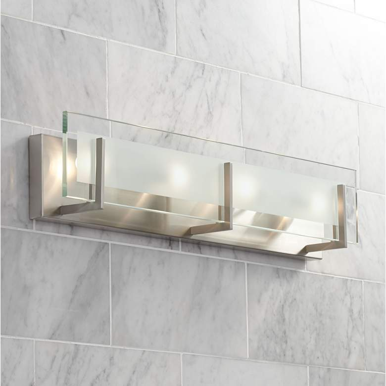 Hinkley Laude 26 Wide Brushed Nickel Vanity Light