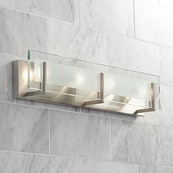 "Hinkley Latitude 26"" Wide Brushed Nickel Vanity Light"