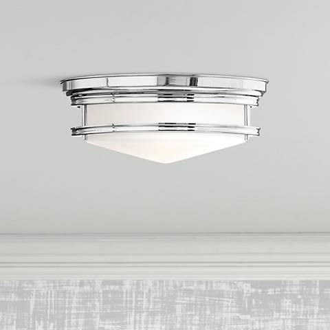 "Hinkley Hadley 14"" Wide Chrome Ceiling Light"