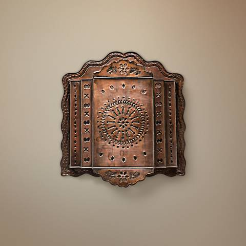 "Jezebel Radiance™ 17 1/2"" WideTribal Tin Wall Sconce"