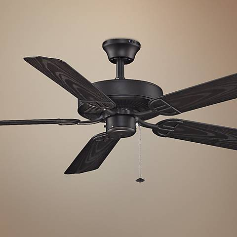 "52"" Fanimation Aire Decor Black Ceiling Fan"