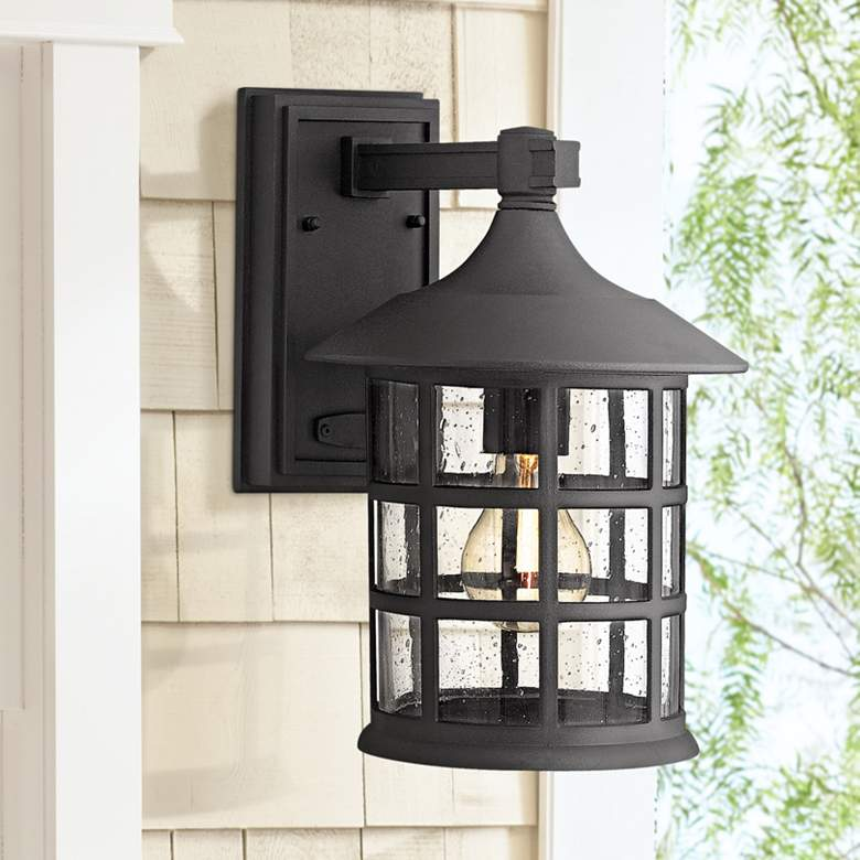 "Hinkley Freeport Black 12 1/4"" High Outdoor Wall"