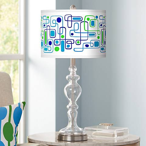 Racktrack Giclee Apothecary Clear Glass Table Lamp