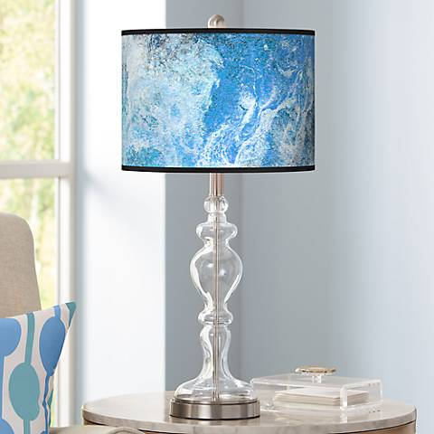 Ultrablue Giclee Apothecary Clear Glass Table Lamp