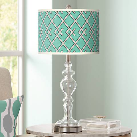 Crossings Giclee Apothecary Clear Glass Table Lamp