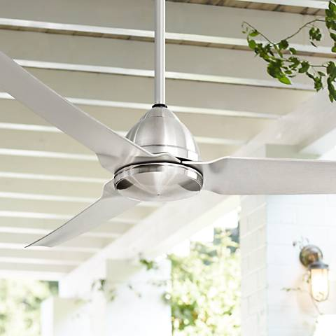 "54"" Minka Aire Java Nickel Indoor/Outdoor Ceiling Fan"