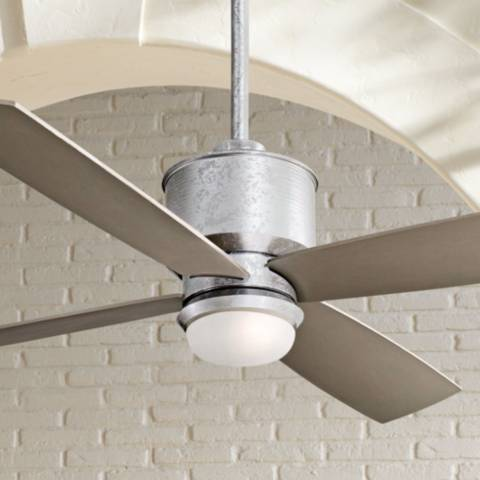 52 Quot Minka Aire Strata Galvanized Ceiling Fan With Light