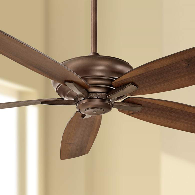 "60"" Minka Aire Kola Dark Brushed Bronze Ceiling"