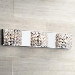 "Cesenna 25 1/2"" Wide Crystal 3-Light Bath Vanity Light"