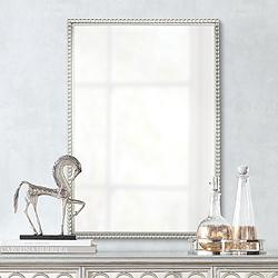 "Uttermost Sherise Beaded 21"" x 31"" Rectangular Wall Mirror"